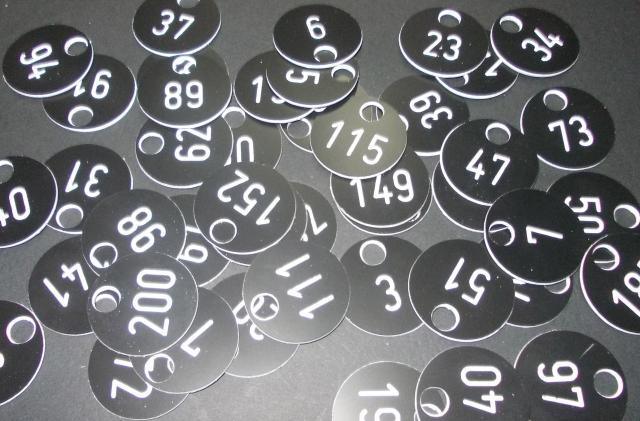 Gravare personalizata Numere pentru Garderoba
