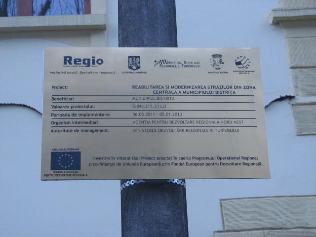 placa permanenta fonduri europene,Placa permaneneta REGIO