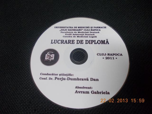 Imprimare , personalizare, inscriptionarea cd-uri licenta