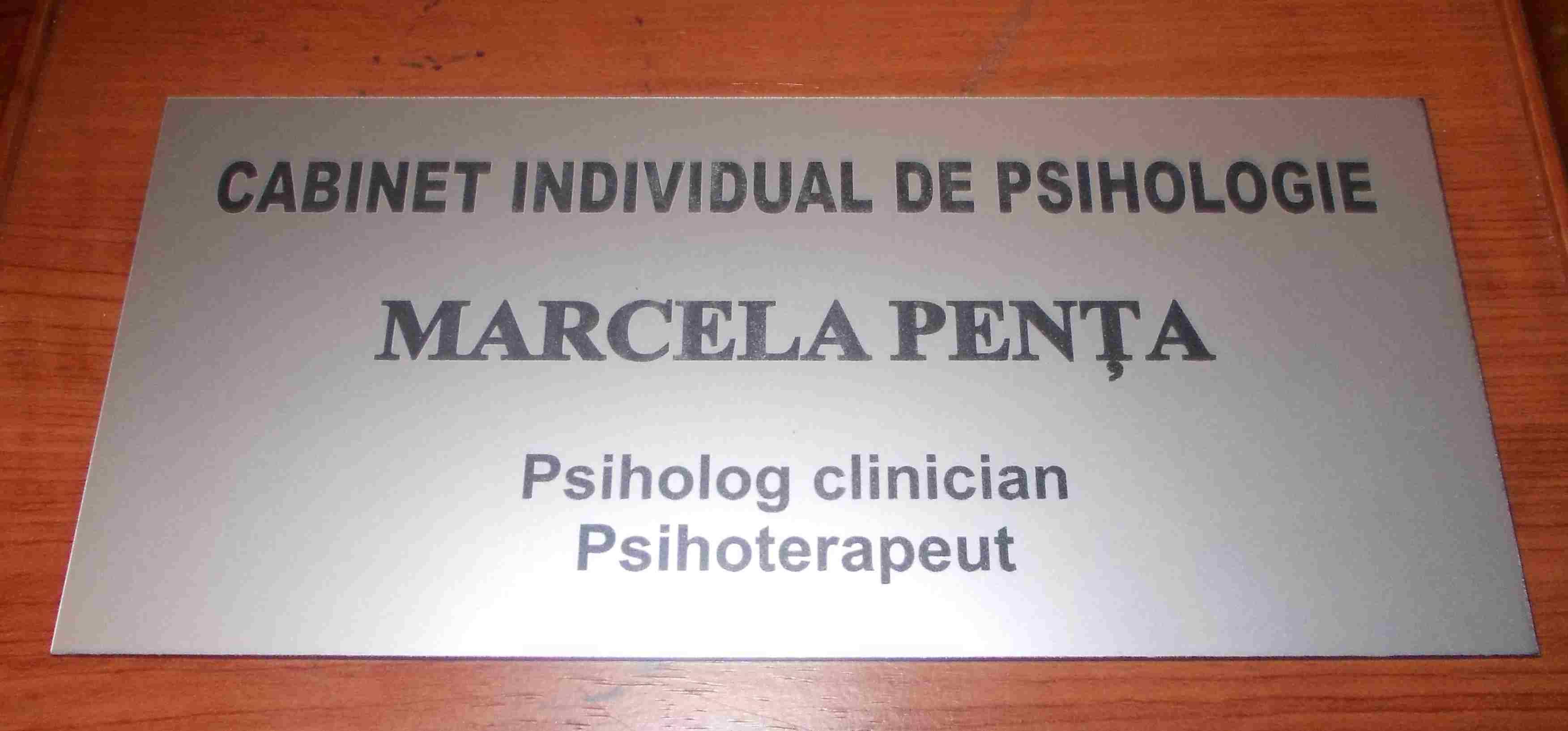 placa indicatoare cabinet psiholog