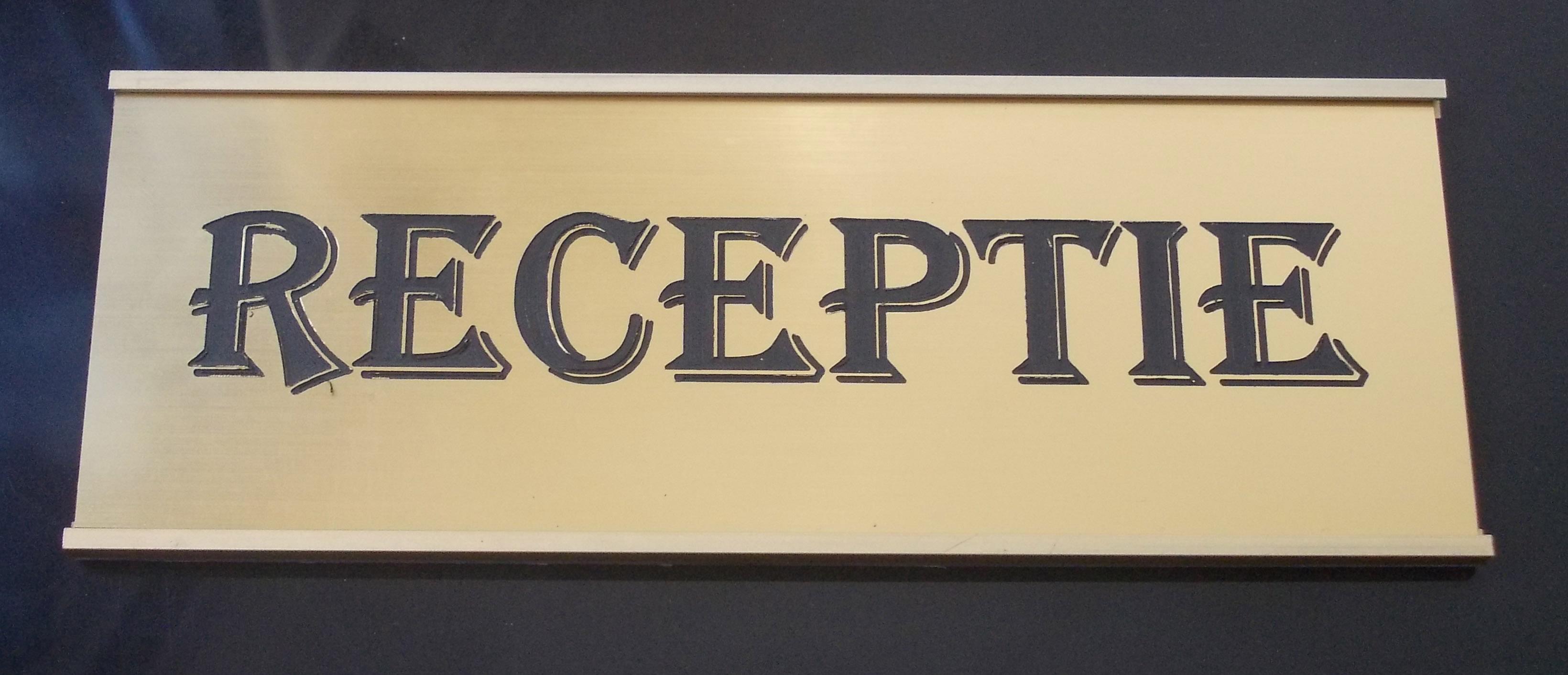 placa receptie, placa indicatoare Receptie